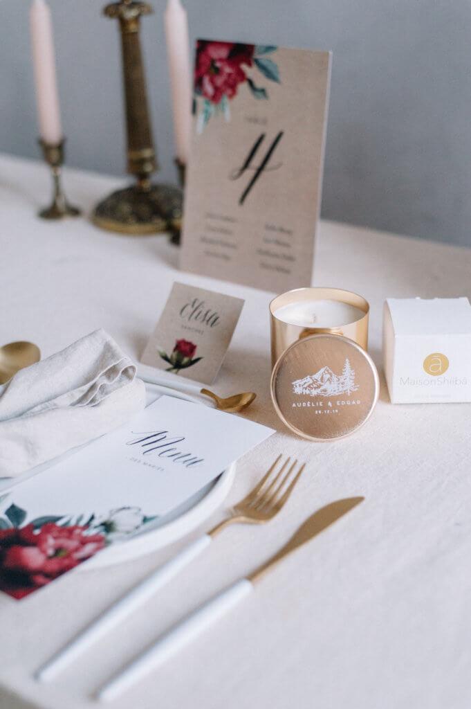 bougie parfumée personnalisée cadeau mariage maison shiiba